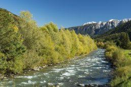 il corso del torrente Noce in valle di Sole, Trentino